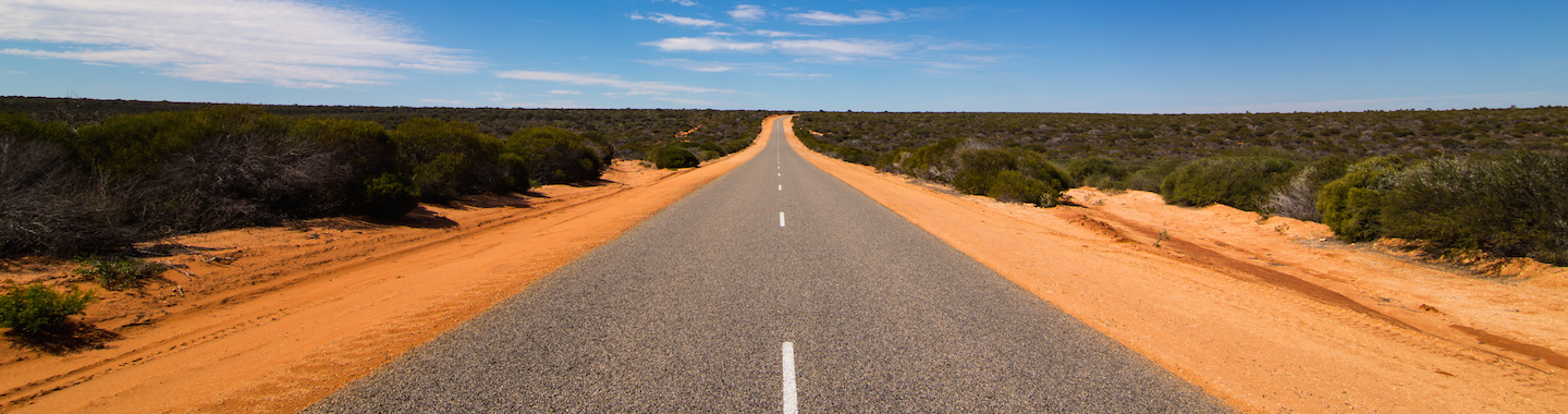 Road through the western australian