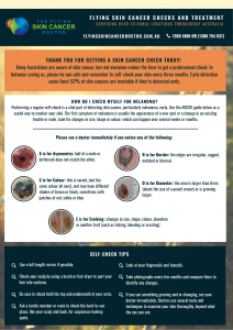 What to look for when you check your skin for skin cancer